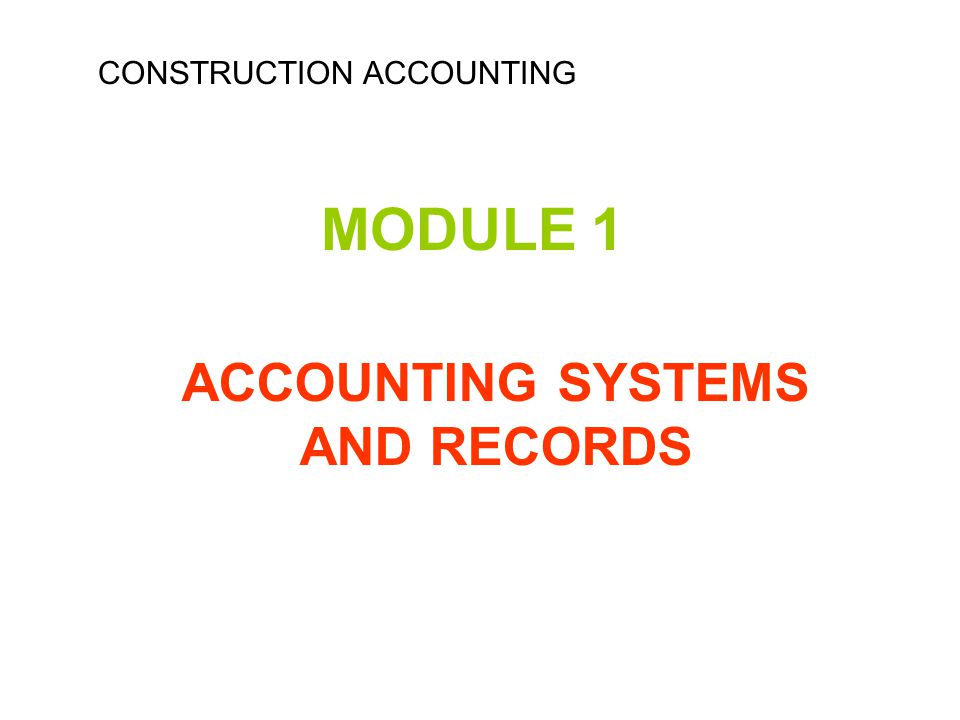 SETTING UP INDIVIDUAL ACCOUNTS Class 100 : All assets Class 150 : All fixed assets Class 155: All company vehicles Class 155.3: Earth movers