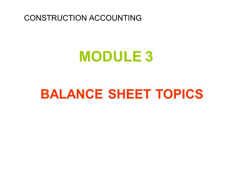 Carpentry subjects of accounting