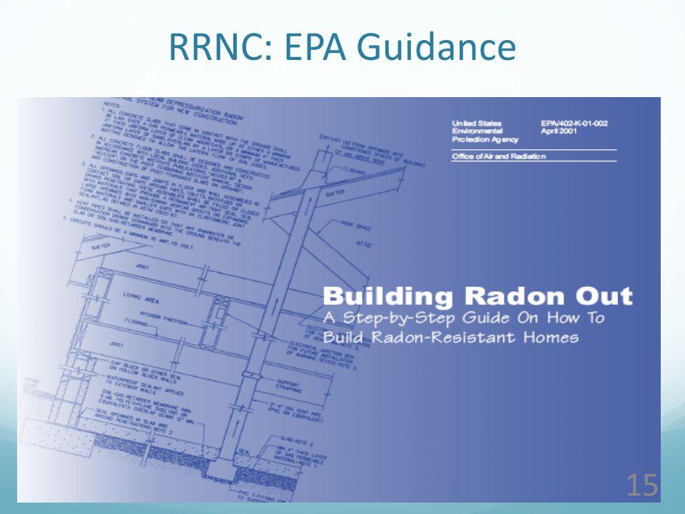 15 RRNC: EPA Guidance