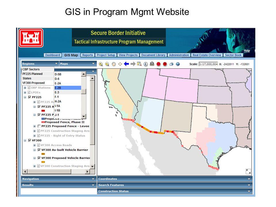 GIS in Program Mgmt Website