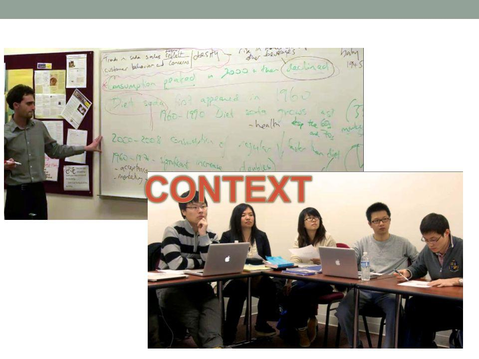 Context UD English Language Institute Pre-MBA (Conditionally admitted MBA students) Reading/Writing for Graduate Programs (level VI) Target genres: persuasive writing & data commentary