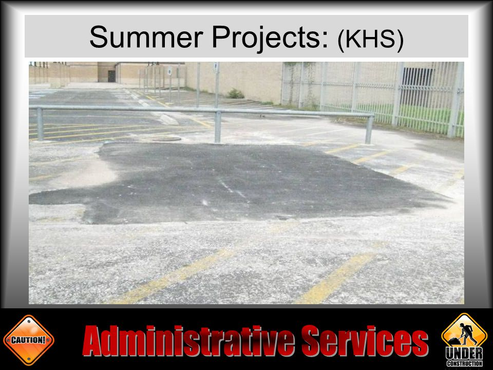 Summer Projects: (KHS)