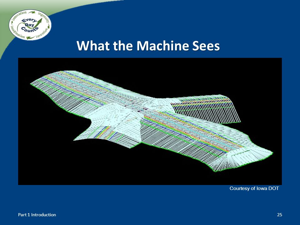 Part 1 Introduction25 Courtesy of Iowa DOT What the Machine Sees