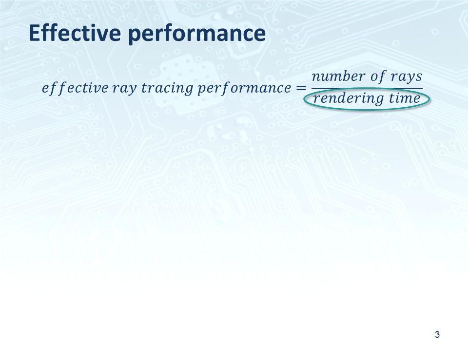 Effective performance 3