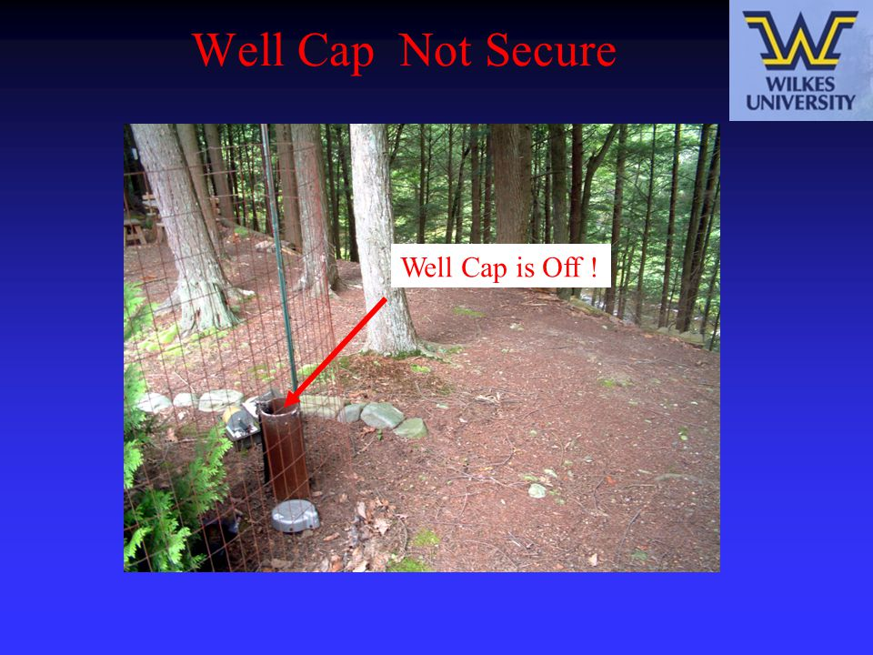 Well Cap Not Secure Well Cap is Off !