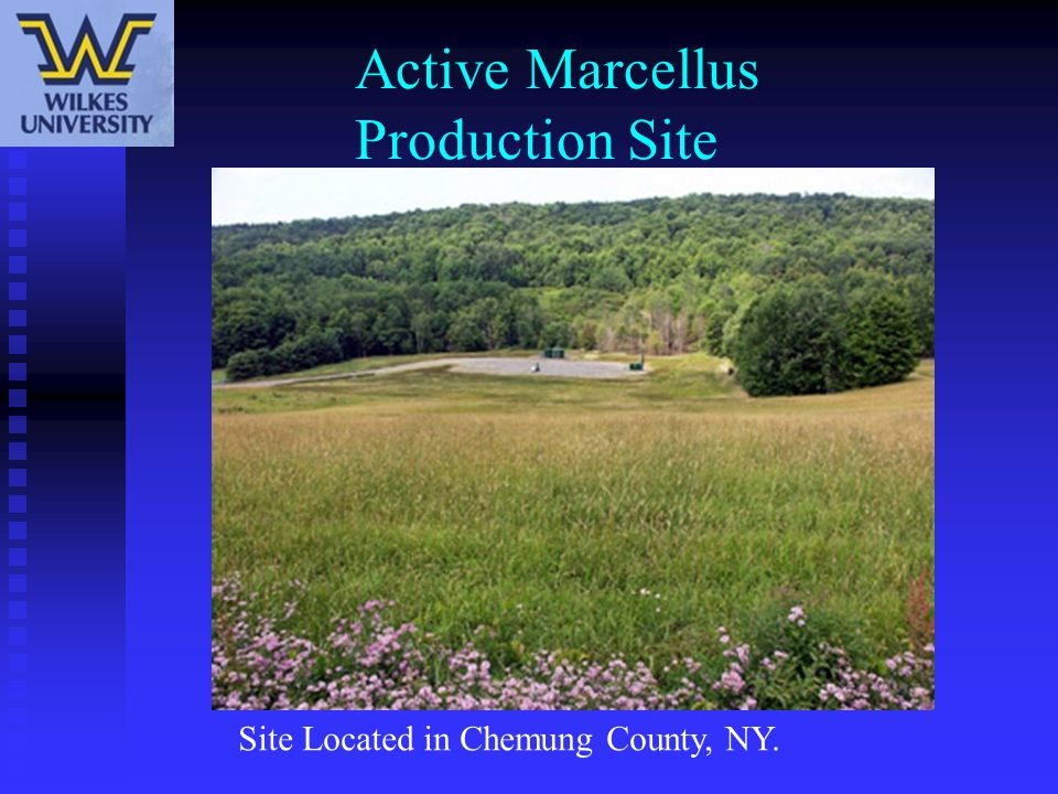 Active Marcellus Production Site Site Located in Chemung County, NY.
