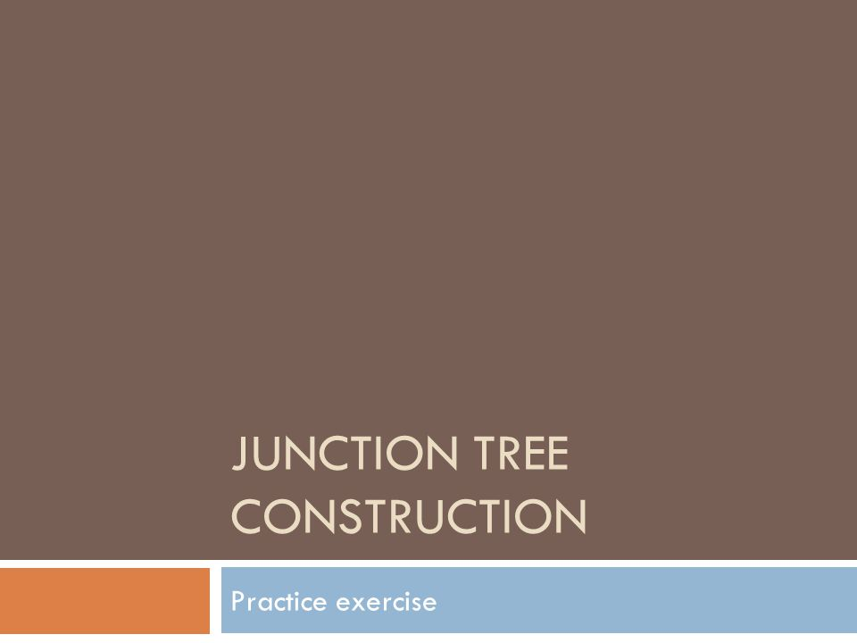 JUNCTION TREE CONSTRUCTION Practice exercise