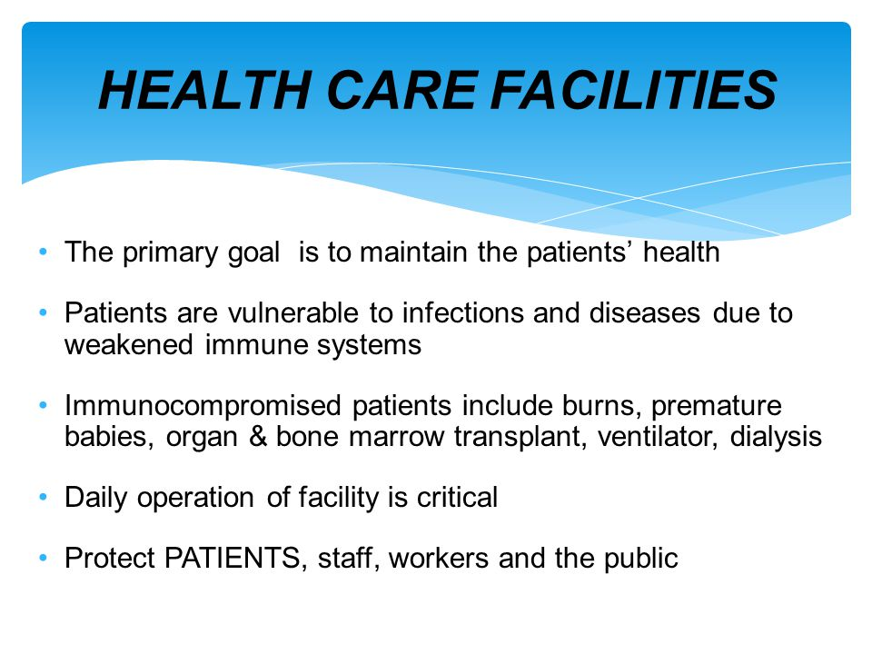 8 HOUR OVERVIEW Gain a better understanding of infection control in an occupied facility Adhere to all work class precautions Have the ability to recognize hazards Basic understanding of barriers, HEPA machines, air changes, regulatory agencies, finding mold, etc.