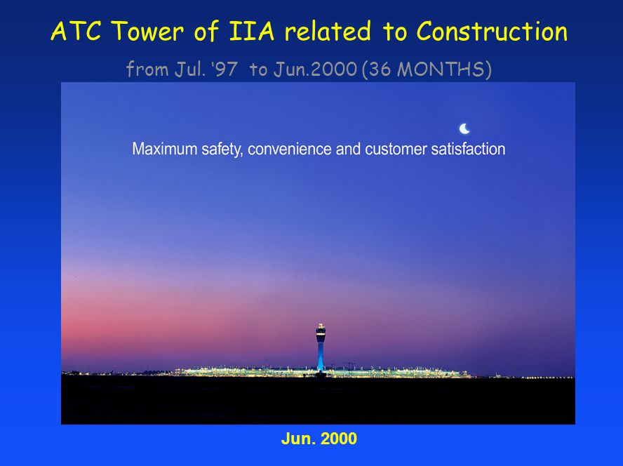 ATC Tower of IIA related to Construction from Jul. 97 to Jun.2000 (36 MONTHS) Jun. 2000
