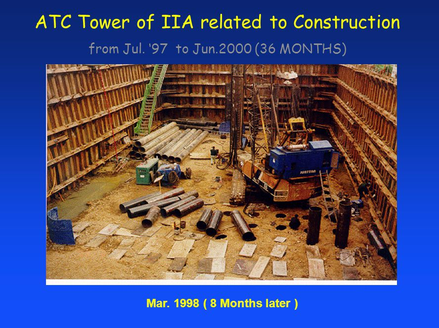 ATC Tower of IIA related to Construction from Jul. 97 to Jun.2000 (36 MONTHS) Mar. 1998 ( 8 Months later )