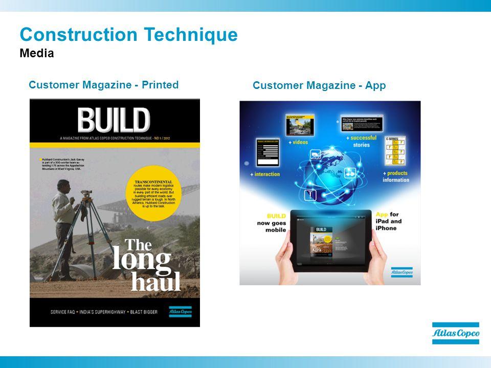 Construction Technique Media Customer Magazine - Printed Customer Magazine - App