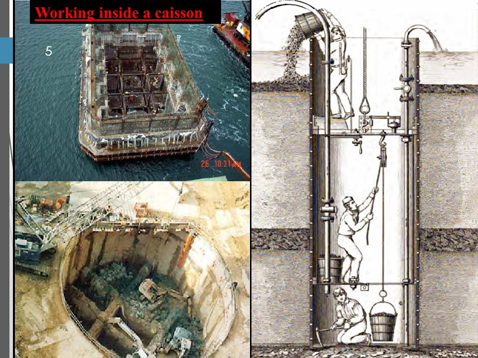 5 Working inside a caisson
