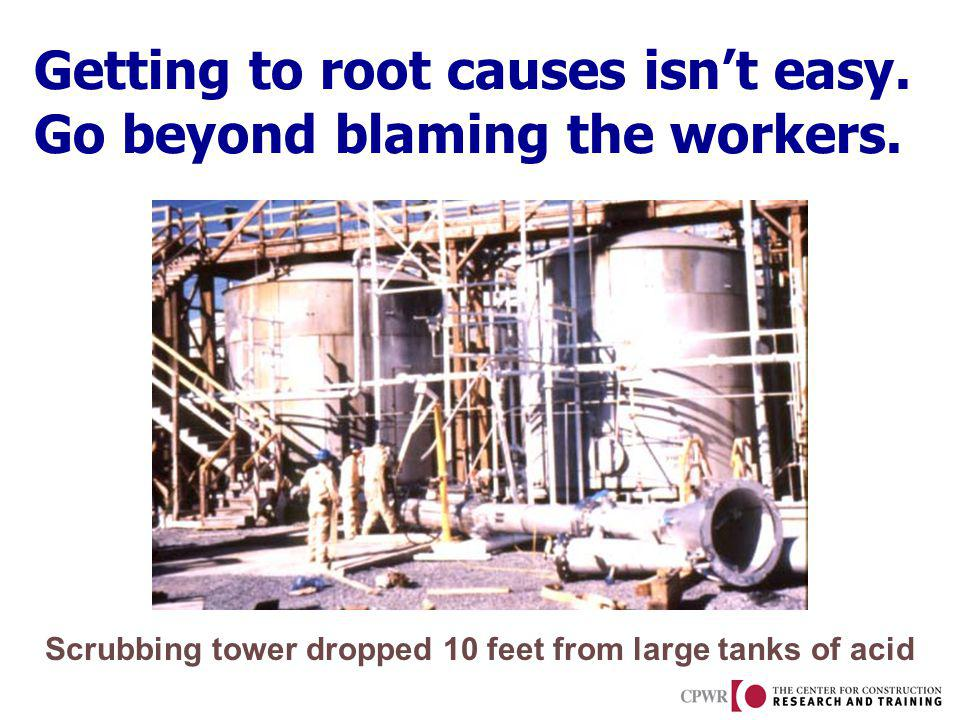 Getting to root causes isnt easy.Go beyond blaming the workers.