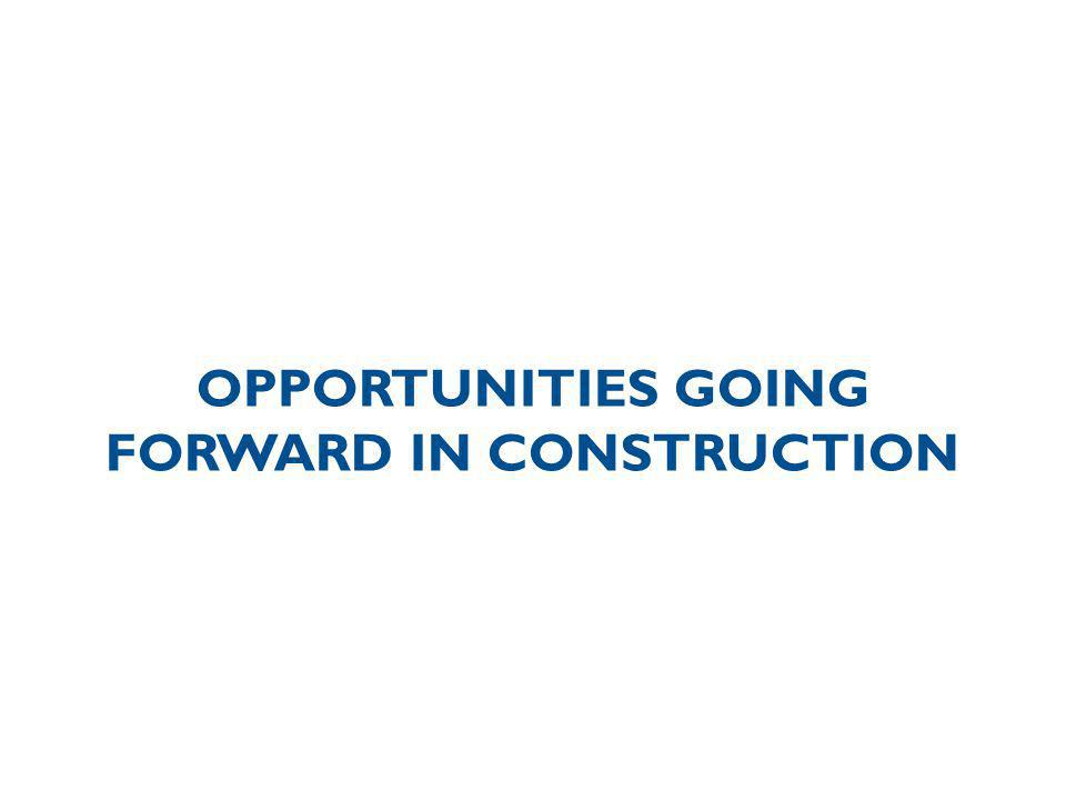 OPPORTUNITIES GOING FORWARD IN CONSTRUCTION