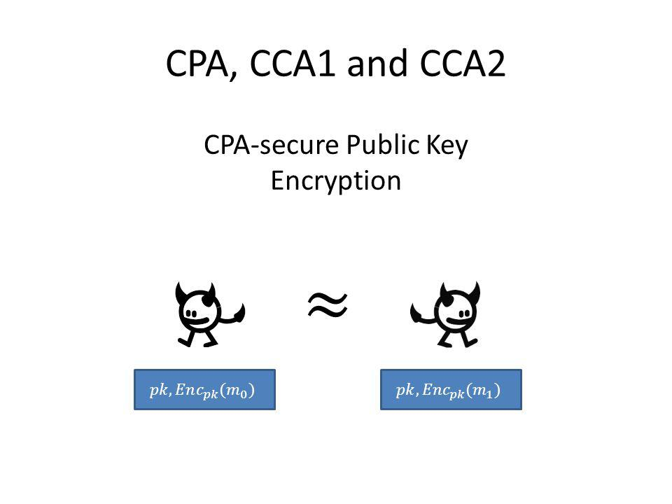 CPA-secure Public Key Encryption