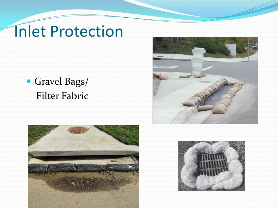 Inlet Protection Gravel Bags/ Filter Fabric