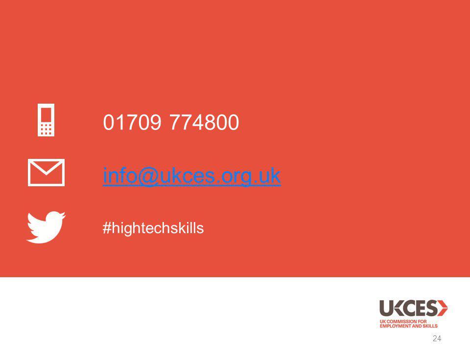 24 01709 774800 info@ukces.org.uk #hightechskills