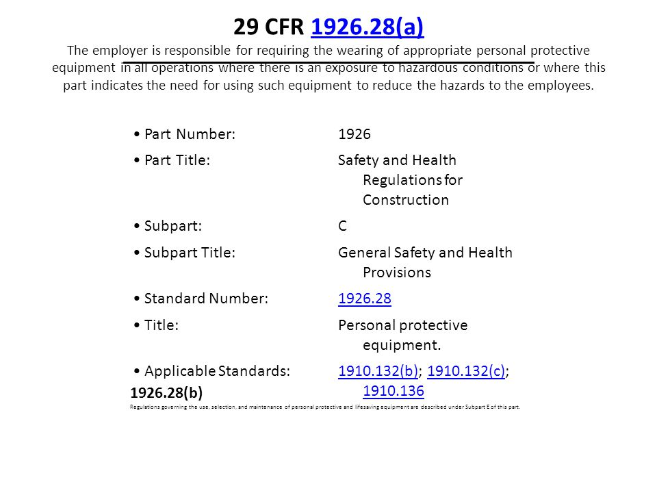 Part Number: 1926 Part Title: Safety and Health Regulations for Construction Subpart: C Subpart Title: General Safety and Health Provisions Standard N