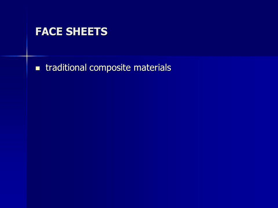 FACE SHEETS traditional composite materials traditional composite materials