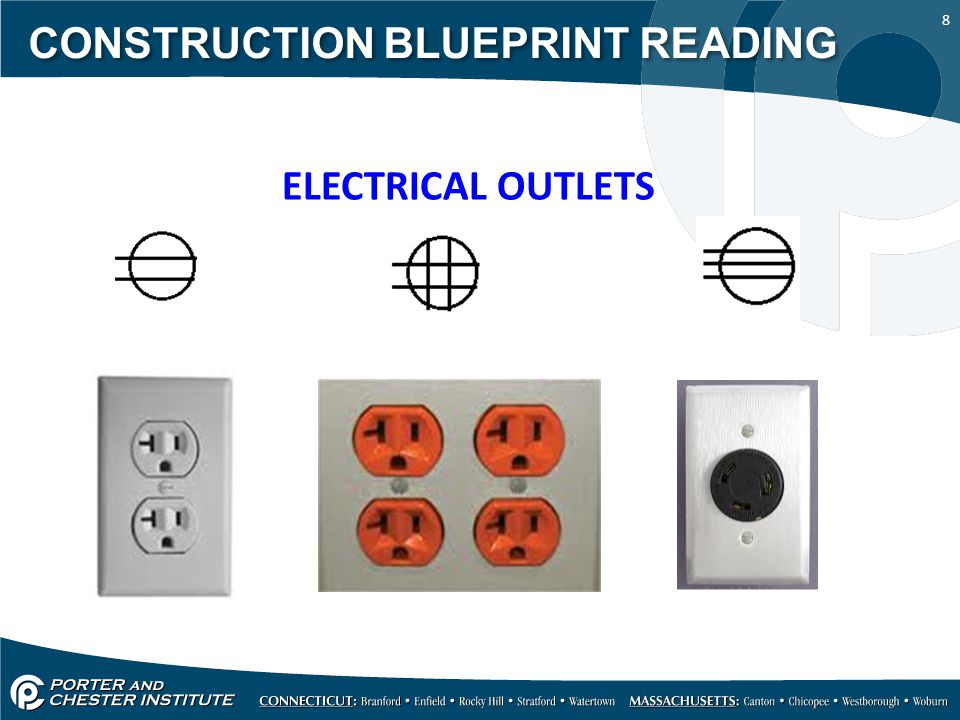 8 CONSTRUCTION BLUEPRINT READING ELECTRICAL OUTLETS