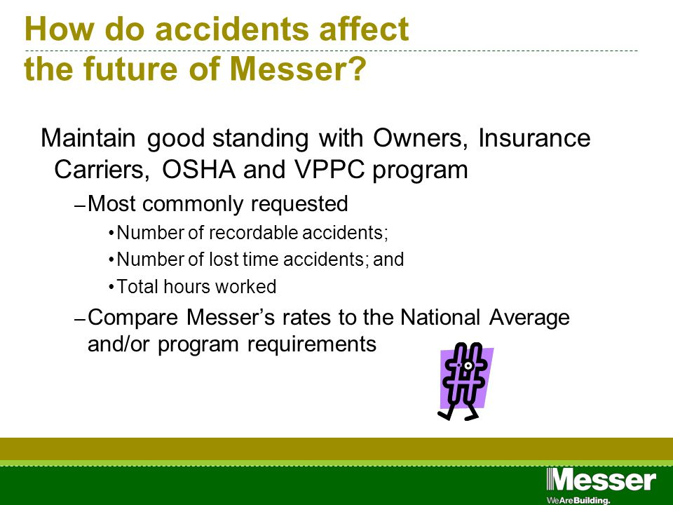 How do accidents affect the future of Messer.