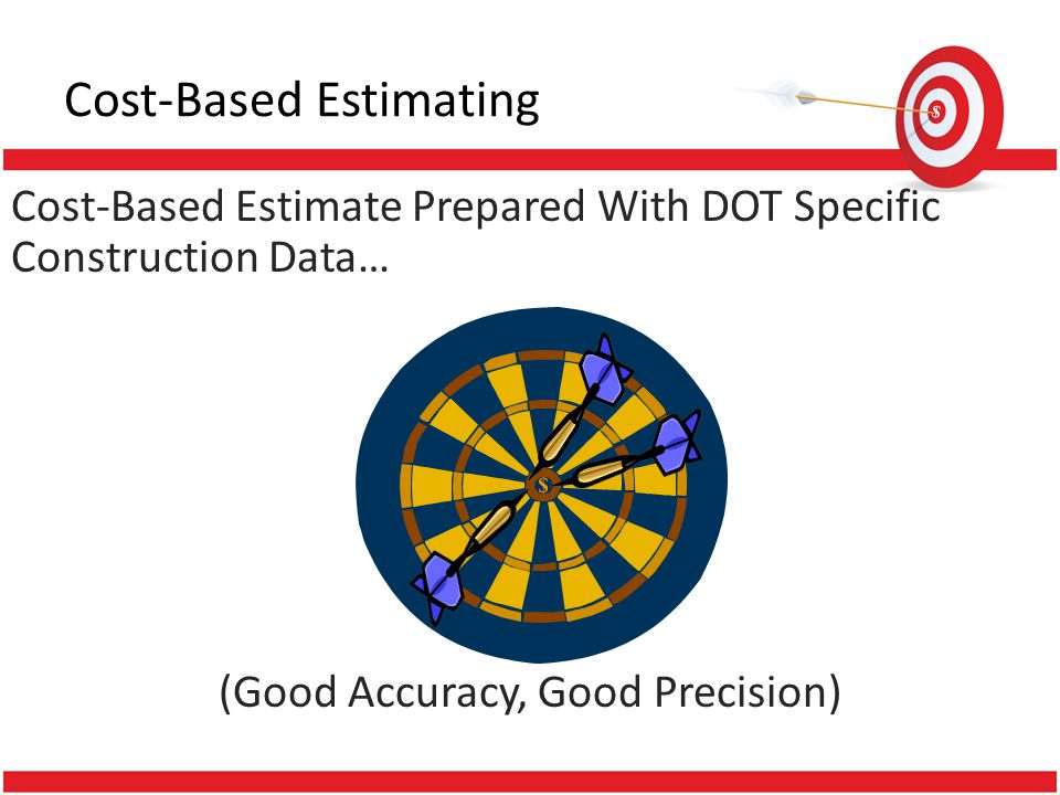 Cost-Based Estimate Prepared With DOT Specific Construction Data… (Good Accuracy, Good Precision)