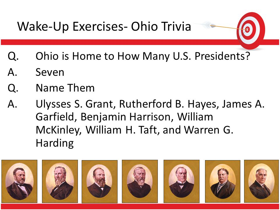 Wake-Up Exercises- Ohio Trivia Q.Which Ohio College is One of Only Eight in The Country to Sport a Female Mascot.