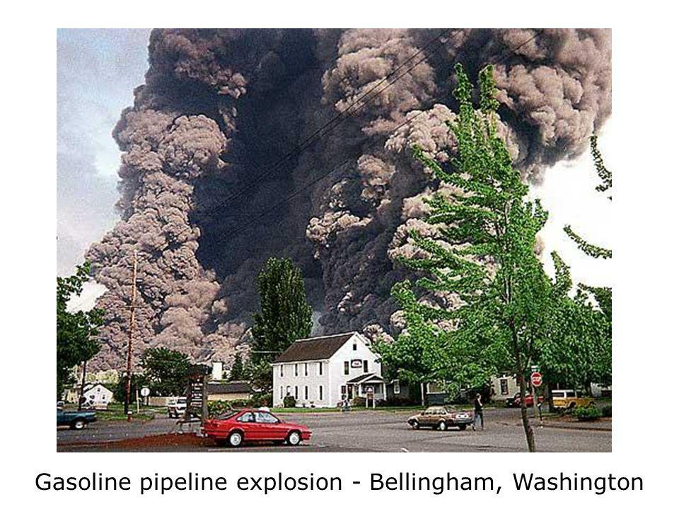 Gasoline pipeline explosion - Bellingham, Washington
