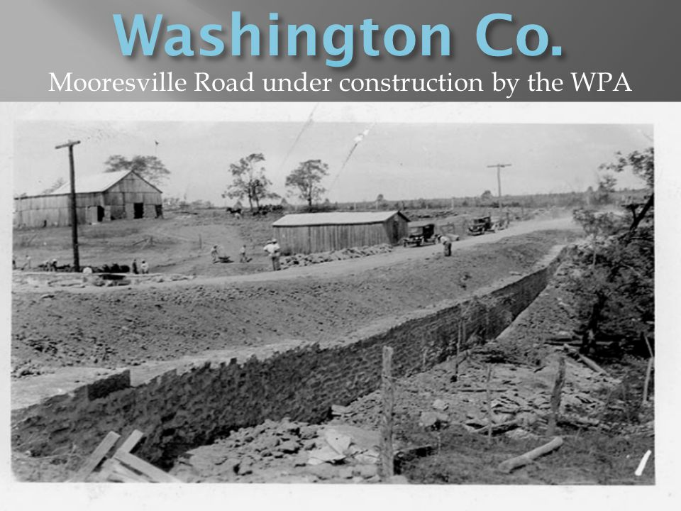 Mooresville Road under construction by the WPA