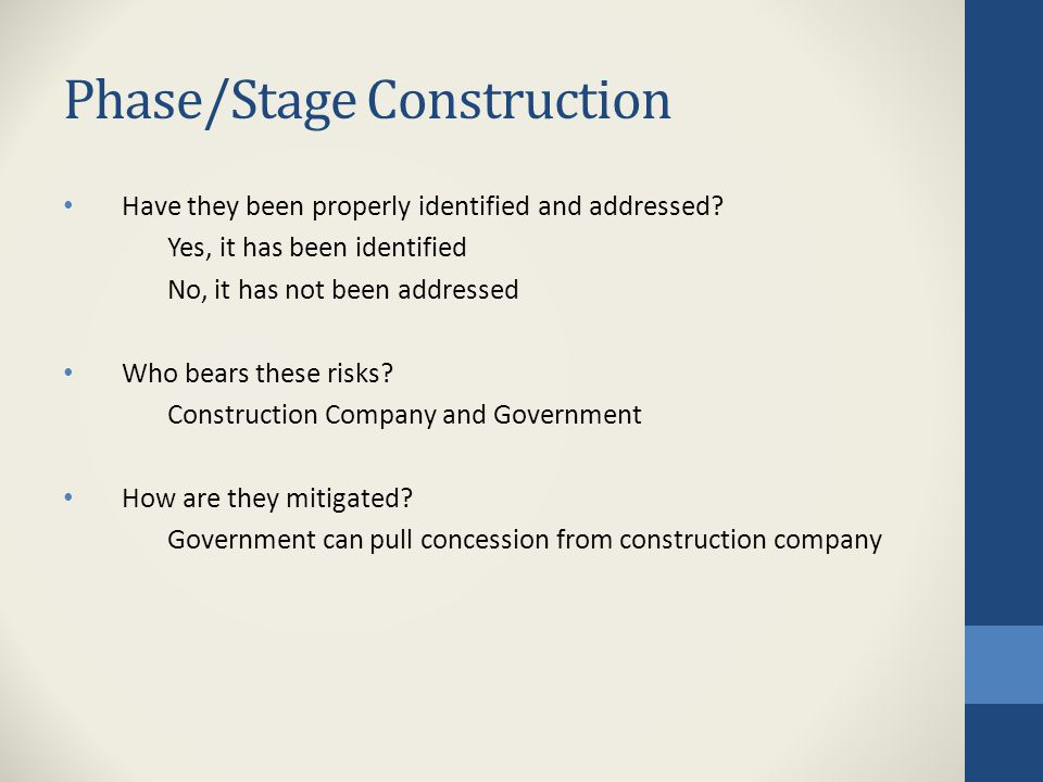 Construction Risks (Delays, etc.) 3.Where would they fall in the heat map (from JPL Case).