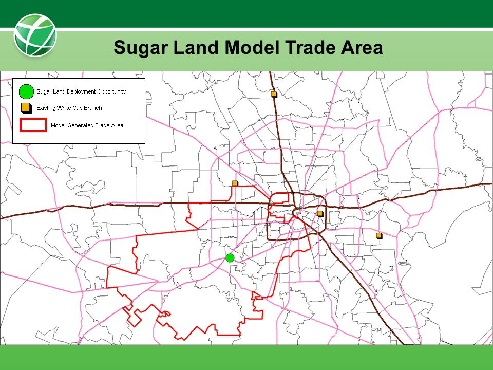 Sugar Land Model Trade Area