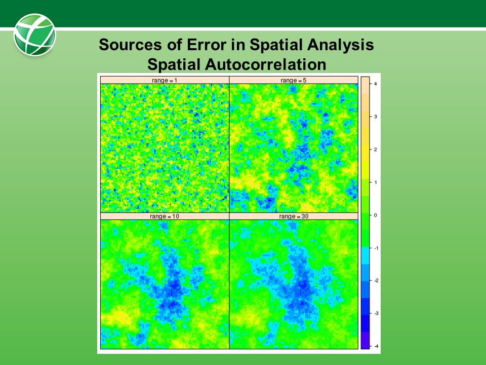 Sources of Error in Spatial Analysis Spatial Autocorrelation