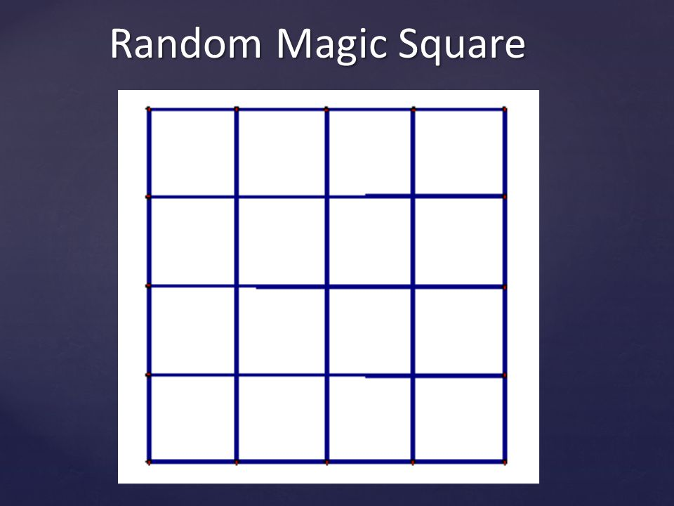 Fibonacci Magic Square The presentation would not be complete with a reference to the Fibonacci numbers Start with the basic 3 by 3 magic square