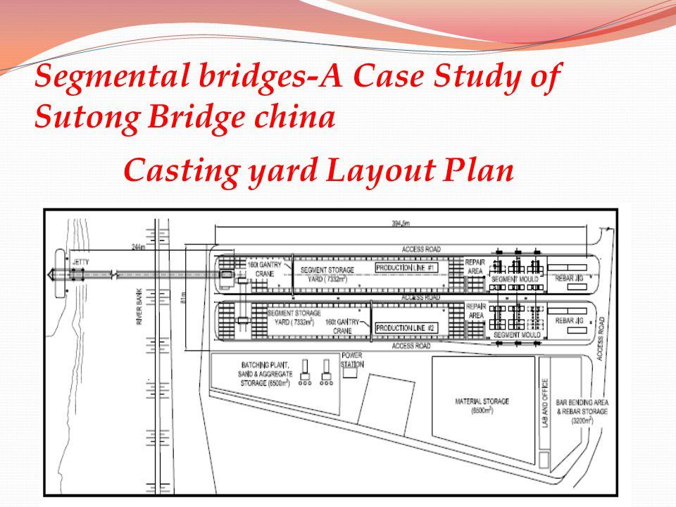 Segmental bridges-A Case Study of Sutong Bridge china Casting yard Layout Plan