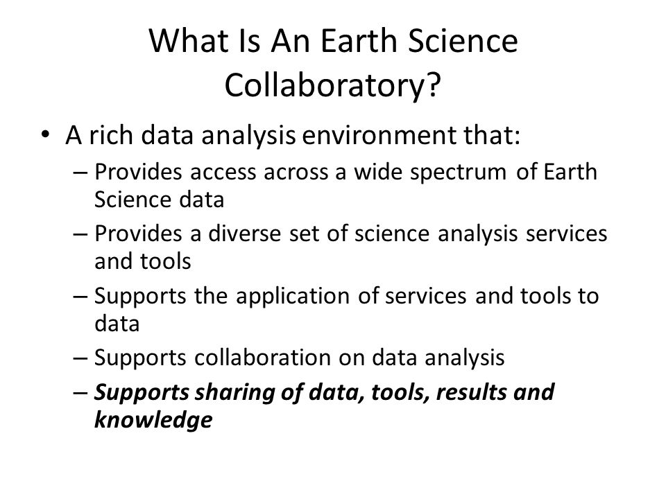 What Is An Earth Science Collaboratory.