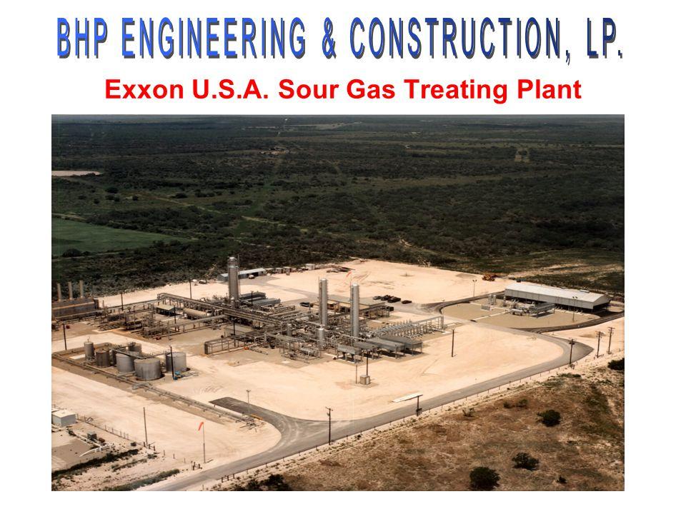 Exxon U.S.A. Sour Gas Treating Plant