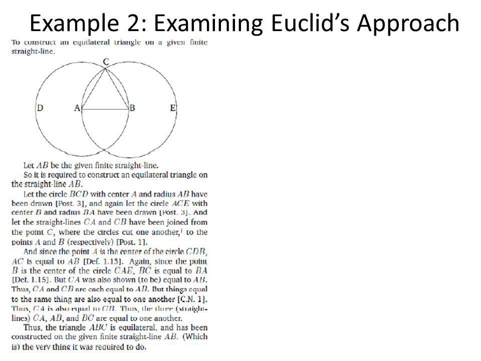 Example 2: Examining Euclids Approach