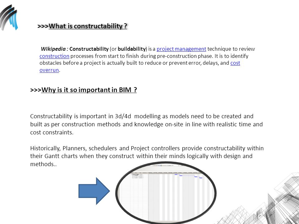 >>>What is constructability .