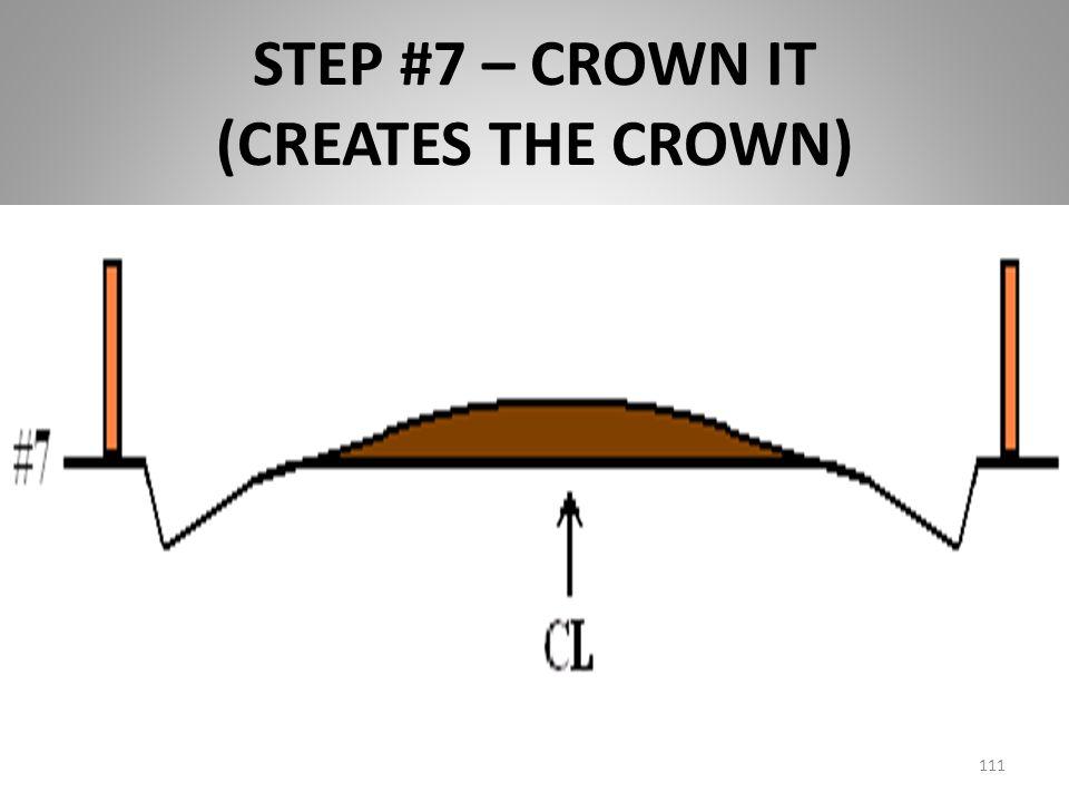 STEP #7 – CROWN IT (CREATES THE CROWN) 111