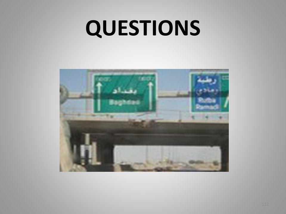 QUESTIONS 112