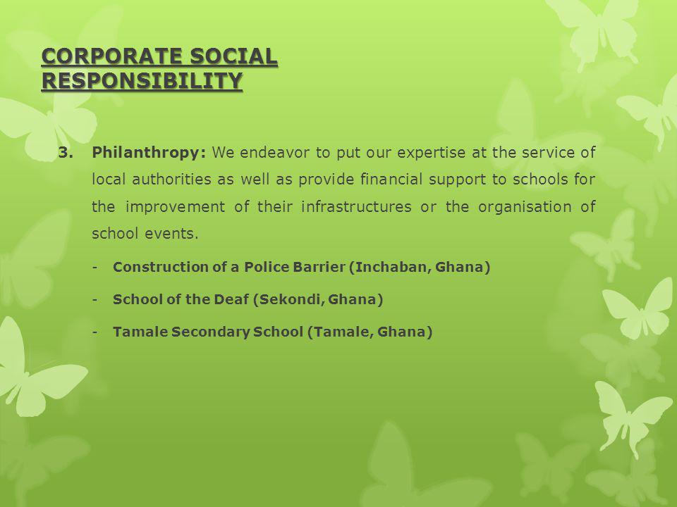 CORPORATE SOCIAL RESPONSIBILITY 3.