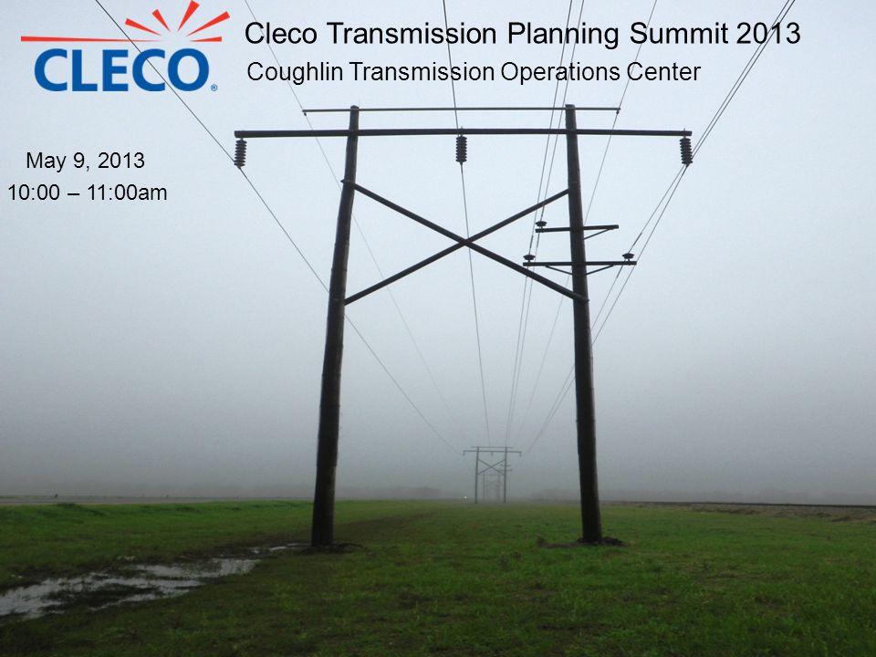 2013 Transmission Construction Plan Coughlin to Plaisance 138 kV line Rating upgrade