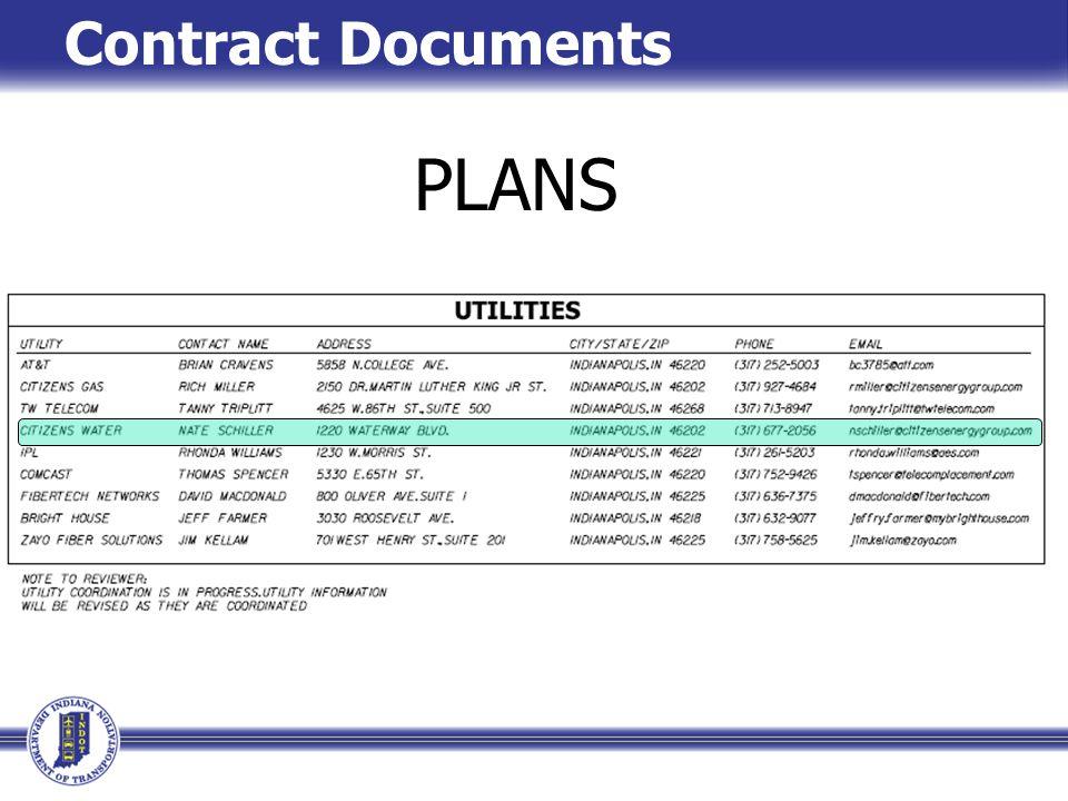 Construction Documents PLANS Contract Documents