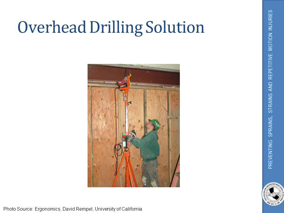 Overhead Drilling Solution Photo Source: Ergonomics, David Rempel, University of California