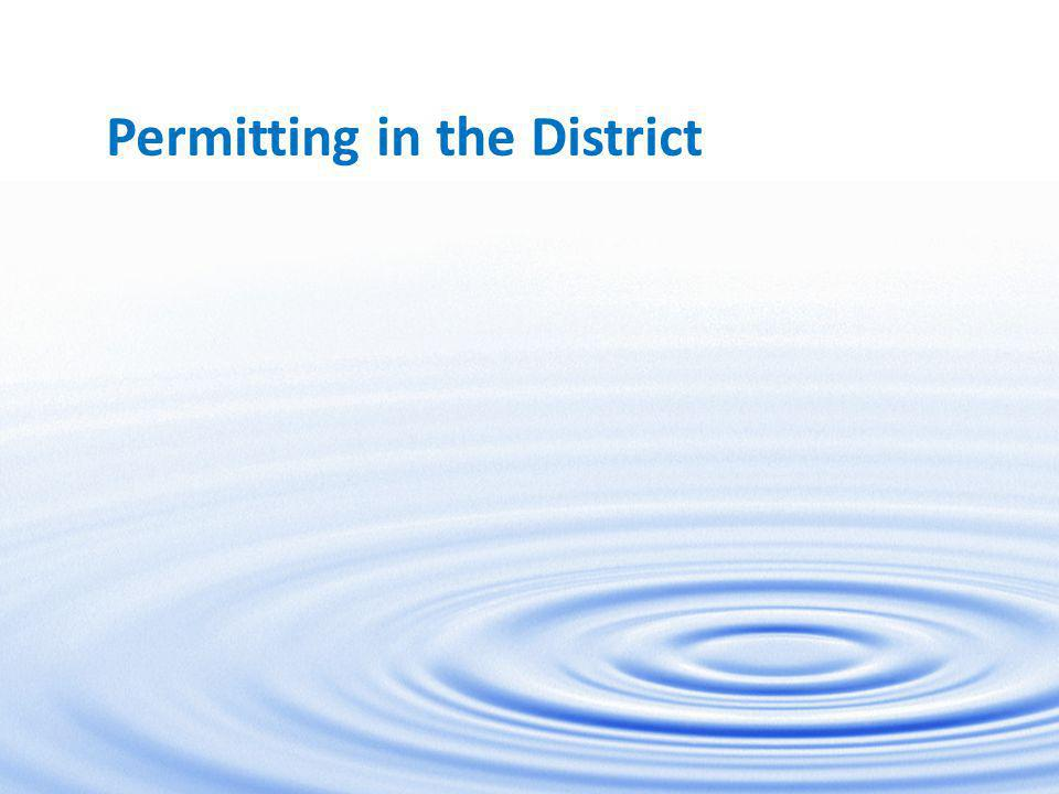 1 Permitting in the District