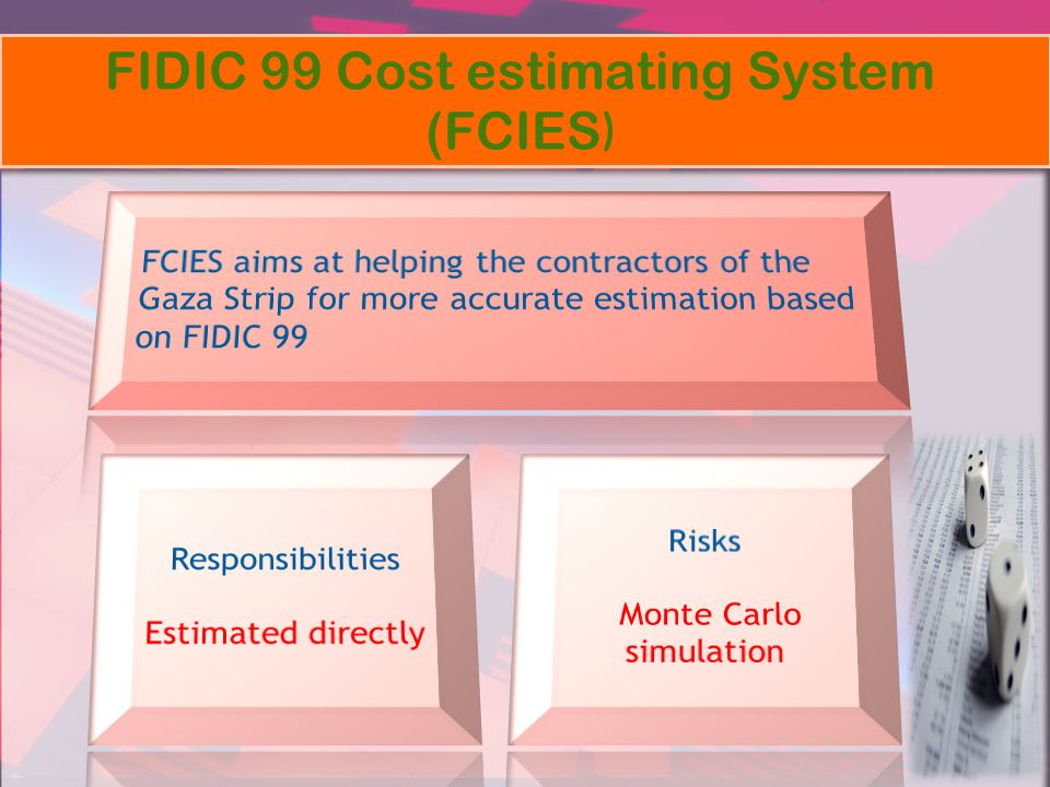 FIDIC 99 Cost estimating System (FCIES )