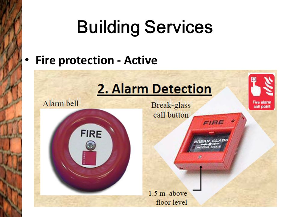 Building Services Fire protection - Active