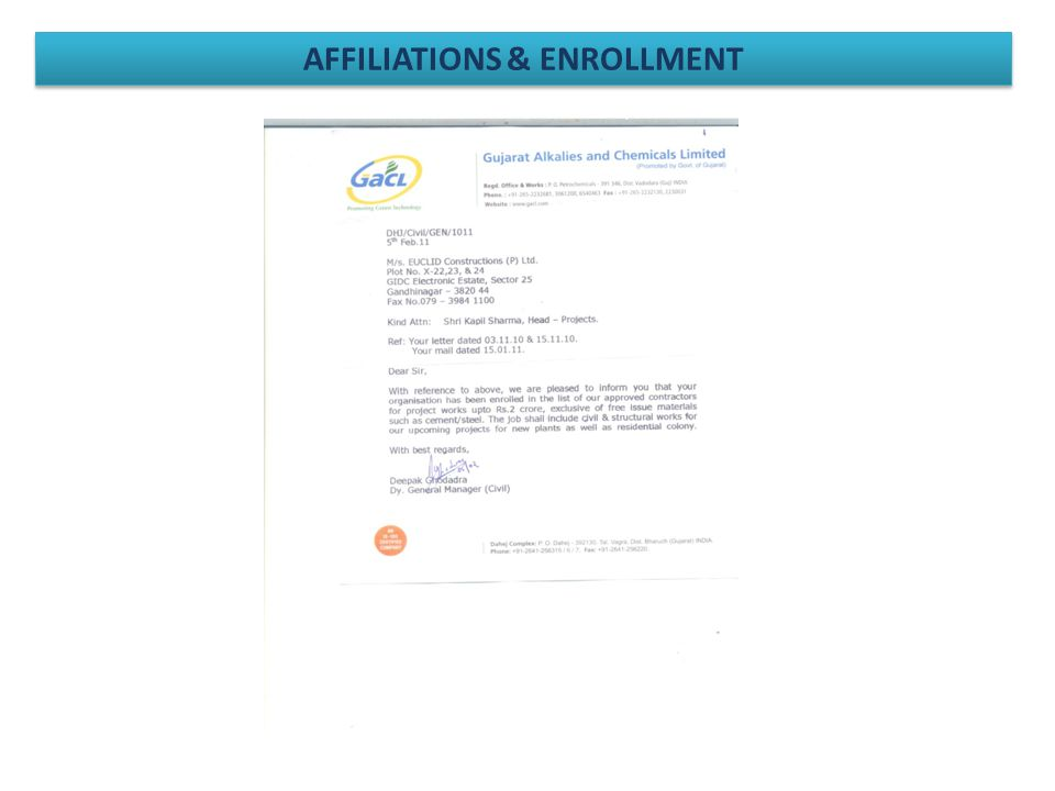 AFFILIATIONS & ENROLLMENT