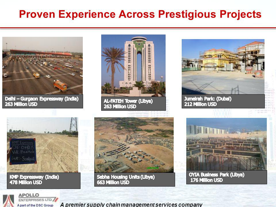 Proven Experience Across Prestigious Projects A premier supply chain management services company