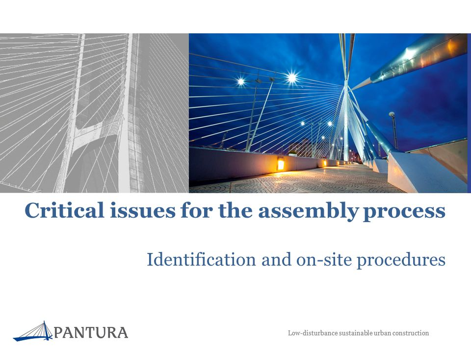 Low-disturbance sustainable urban construction Critical issues for the assembly process Identification and on-site procedures